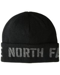 cc8f152e6e50ee The North Face - Tnf Felted Logo Beanie (tnf Black/tnf Medium Gray Heather