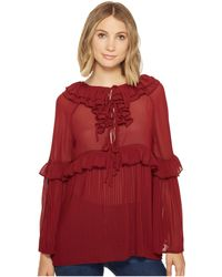 45b3e448bfd50 Lyst - Romeo and Juliet Couture Off The Shoulder Bell Sleeve Shirt W ...