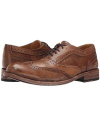 Bed Stu - Corsico (tan Driftwood Leather) Lace Up Wing Tip Shoes - Lyst