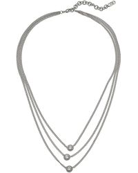 "Cole Haan - 18"" 3 Layer Cz Necklace - Lyst"