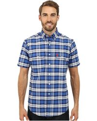 U.S. POLO ASSN. - Short Sleeve Plaid Sport Shirt - Lyst