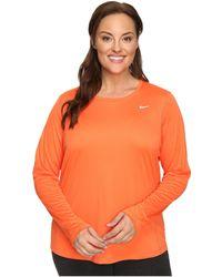 Nike - Miler Long-sleeve Running Top (size 1x-3x) - Lyst