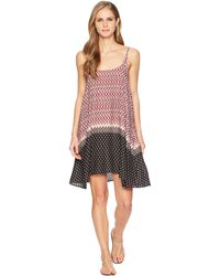 Stetson - 1588 Border Print Rayon Slip Dress - Lyst