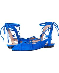 Boutique Moschino - Lace-up Flats - Lyst