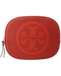 Tory Burch | Logo Perforated Cosmetic Case | Lyst