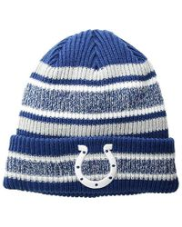 promo code 29540 e2837 KTZ Indianapolis Colts Striped Cuff Knit Hat in Gray for Men - Lyst
