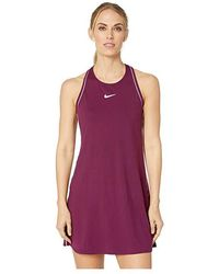 c4675726c4dc5 Nike Court Dry Dress (bourdeaux/white/white/bordeaux) Women's Dress ...