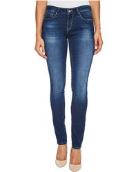 Mavi Jeans - Alexa Mid-rise Skinny In Dark Brushed Shanti - Lyst