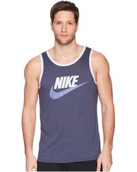a4ca5f0a0d5fc Lyst - Nike Logo Tank Top in Blue for Men