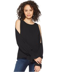 Vince Camuto - Flare Cuff Cold Shoulder Boat Neck Blouse - Lyst