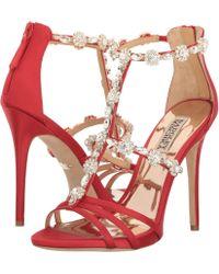 Buy Great Shoes Badgley Mischka Thelma Strawberry Satin Women Canada popular shoes