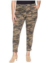 Sanctuary - Plus Size Fast Track Zip Chino Pants (human Nature Camo) Casual Pants - Lyst