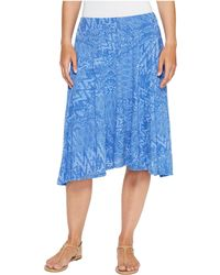 ef8a8c75930 Lyst - Mod-o-doc Patchwork Burnout Jersey Swing Skirt With Lining in ...