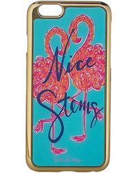 Lilly Pulitzer - Iphone 6 Luxe Cover (minty Fresh Flamingo Motif) Cell Phone Case - Lyst