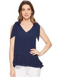 Cece - Short Sleeve V-neck Layered Blouse - Lyst