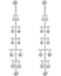 Lauren by Ralph Lauren - Crystal Drops Linear Post Earrings - Lyst