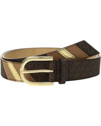 68ee60d3e40d9 MICHAEL Michael Kors - 32mm Fashion Signature Color Block Belt - Lyst