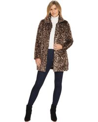 Dylan By True Grit - Wild Side Vintage Leopard Faux-fur Coat With Heather Knit Lining And Pockets - Lyst