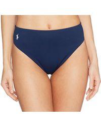 9ce1026f7e Polo Ralph Lauren - Icon Classic High-waist French Cut Leg Bottoms - Lyst