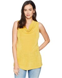 Ellen Tracy - Sleeveless Top With Asymmetrical Hem - Lyst