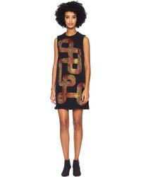 48310e1401f Versace - Sequin Swirl Sleeveless Dress - Lyst