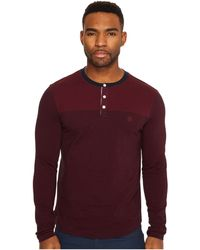 Original Penguin | Long Sleeve Engineered Feeder Stripe Polo Heritage | Lyst