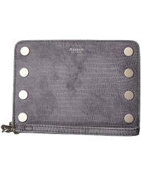 Hammitt - 605 South Wristlet (slate Tejus/slate Lust/brushed Silver) Cross Body Handbags - Lyst