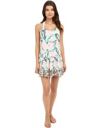 Maaji - Leafy Watercolor Cover-up Short Dress - Lyst