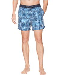 Scotch & Soda - Classic Swim Shorts With Fresh Two-tone All Over Pattern - Lyst