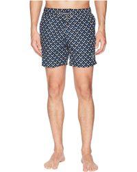 Scotch & Soda - Medium Length Mini-motif Swim Shorts - Lyst