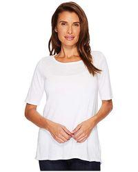 Allen Allen - Sweater 1/2 Sleeve High-low Tee (white) Sweater - Lyst
