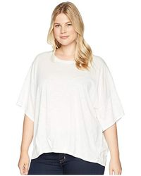 B Collection By Bobeau - Plus Size Calla Knit Dolman Top (ivory) Short Sleeve Pullover - Lyst