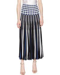 Sonia Rykiel - Vichy Plaid Pleats Skirt - Lyst