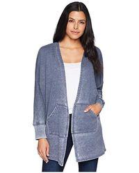 Allen Allen - Open Cardigan (lapis) Sweater - Lyst