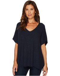 Two By Vince Camuto - Short Sleeve Plaited Traveling Stitch Boxy Pullover - Lyst