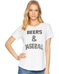 The Original Retro Brand - Beers And Baseball Rolled Short Sleeve Slub Tee - Lyst