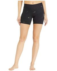 1d3b490534 Nike - Pro All Over Print Metallic Swoosh Shorts 5 In. (black) Shorts