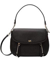 e3134e0fdbd0 MICHAEL Michael Kors - Evie Medium Shoulder Flap (black) Shoulder Handbags  - Lyst