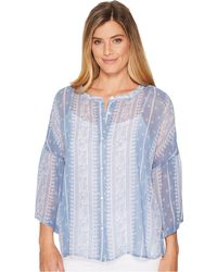 Two By Vince Camuto - Ruffle Sleeve Country Paisley Blouse - Lyst
