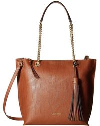 Calvin Klein | Unlined Novelty Top Zip Tote | Lyst