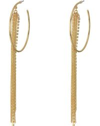 Guess | Large Hoop With Chain And Rhinestone Fringe Earrings | Lyst