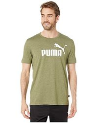 4850d30a777 PUMA Ess No.1 T-shirt In Gray 83824103 in Gray for Men - Lyst