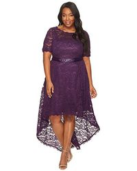081495bdb9b11 Adrianna Papell - Plus Size Short Sleeve Lace Dress With High-low Hem (night