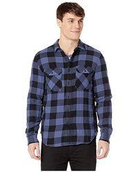 fbc6e1dd 7 For All Mankind - Long Sleeve Double Face Buffalo Check Shirt (navy)  Clothing