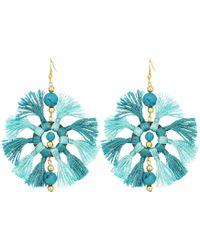 Kenneth Jay Lane - Two-tone Turquoise/light Turquoise Multi Tassel Fishhook Earrings - Lyst