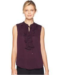 Tommy Hilfiger - Ruffle Front Sleeeveless Woven - Lyst