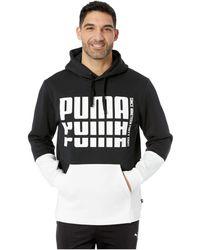 b9e0135ea60406 Lyst - PUMA Rebel Hoody Fl In Black 85008701 in Black for Men