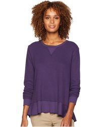 Mod-o-doc - Flatback Thermal Long Sleeve Sweatshirt Tee With Flounce Hem - Lyst