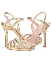 32b13593a18f Kate Spade - Florence (gold Metallic Nappa) Shoes - Lyst