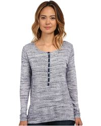 Miraclebody - Variegated Long Sleeve Henley Top W/ Body-shaping Inner Shell - Lyst